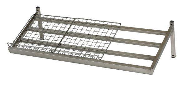 Single Angled Mesh Display Shelf