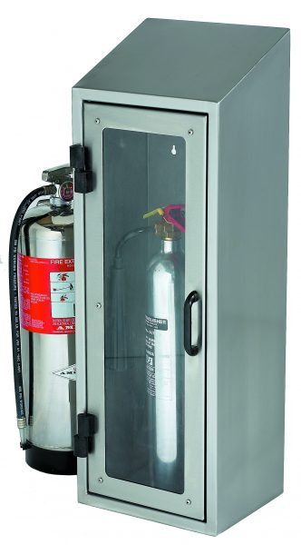 Stainless Steel Fire Extinguisher Cupboard