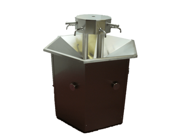 Octagonal 8 user sink