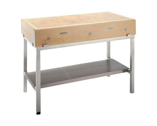 Maple Block Table with Aluminium Frame