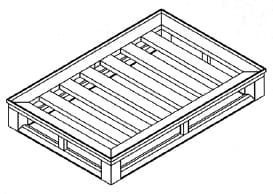 Flat Full Perimeter Pallet With Outer Rim