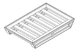 Flat Angled Pallet With Outer Rim