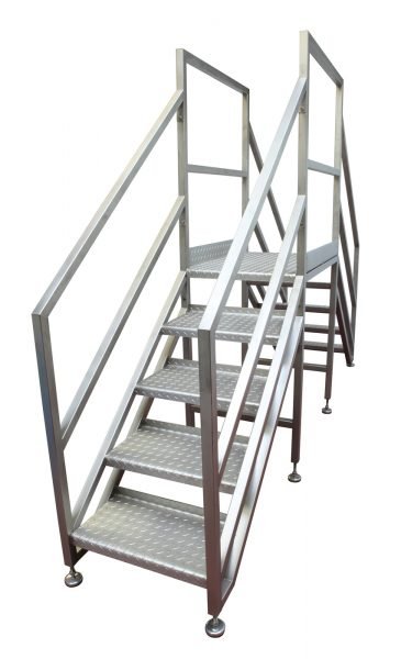 stainless steel mobile step unit