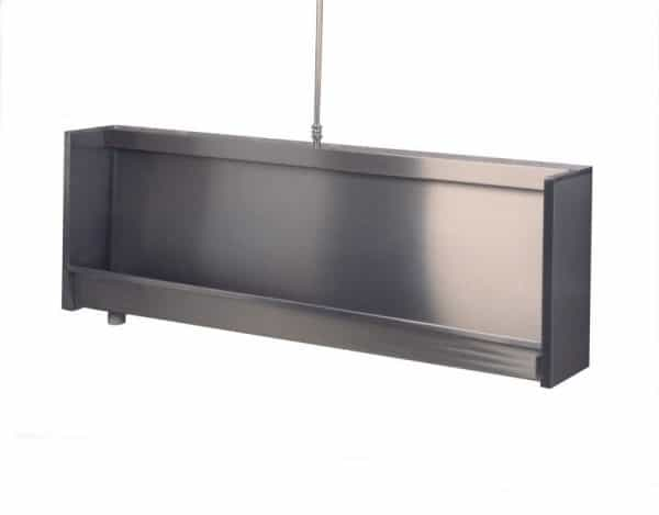 Wall Hung Trough Urinal with square sides