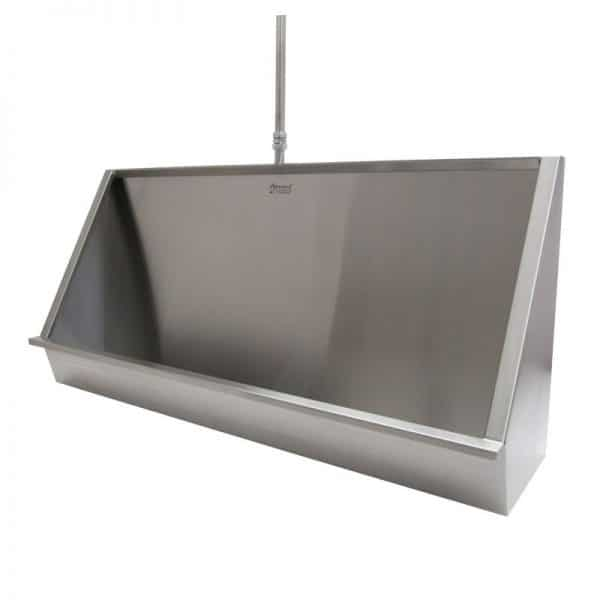 Wall Hung Trough Urinal with sloping sides
