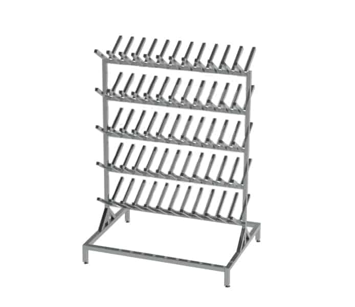 Aluminium Mobile Welly Rack