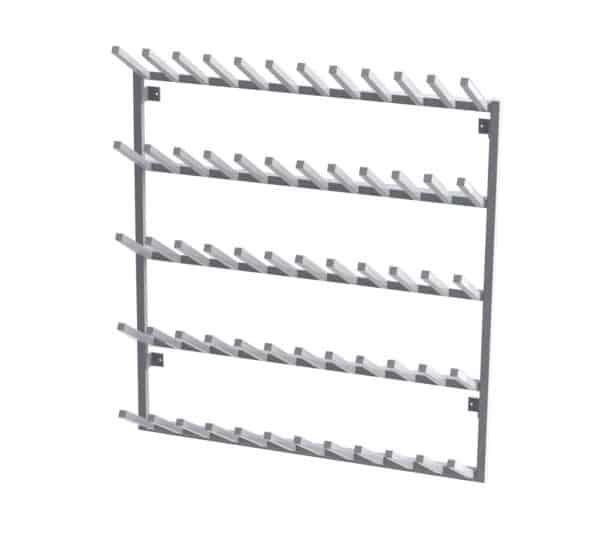 Aluminium Wall Mounted Welly Rack