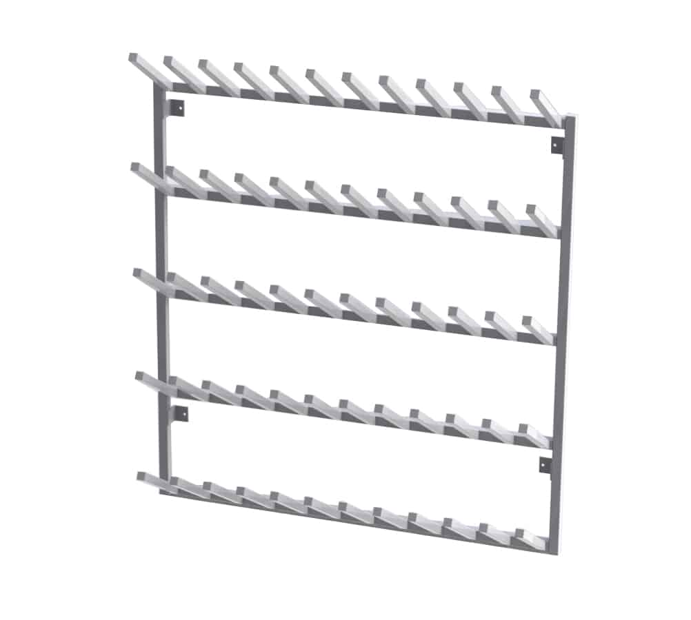 Aluminium Wall Mounted Welly Rack