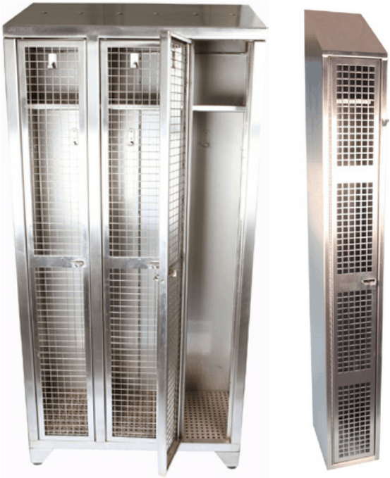 Stainless Steel Mesh and Perforated Lockers